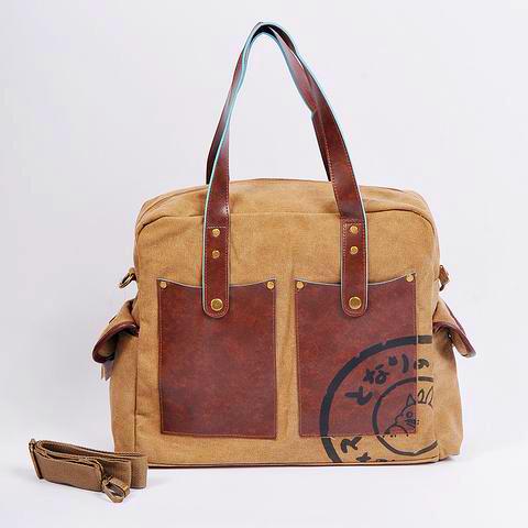 free shipping Totoro canvas bag shoulder bag messenger bag dual-use package 1238(China (Mainland))