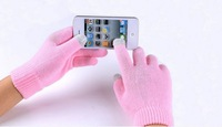 Winter touch Cotton glove capacitive screen gloves for iphone 5 S4 note 3 S3 ipad mini air 100 pairs