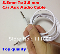 Universal Car Aux Audio Cable  3.5mm To 3.5 mm  Male to Male Audio Cable for iphone iPod iPad,1000pcs/lot DHL Free