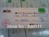 Free Shipping 100PCS/LOT FR107 1A 1000V Fast recovery rectifier diode DO-41