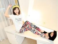 9226 milk, silk doodle print legging ankle length trousers fashion like black leggings