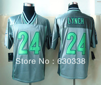 Men's Football Seattle 24 Marshawn Lynch Jersey Men's Marshawn Lynch Elite Football Jersey Grey Vapor Elite Jersey