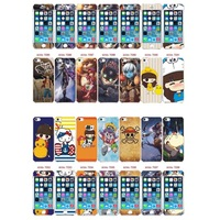 Free shipping New Arrival Famous Brand Pattern Back Front Include 3D metal sticker screen protector for iphone 5 5s