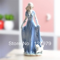 on sale!!! Modern home furnishing decoration, ceramic crafts decoration,the girl and the dog~