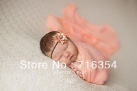 10pieces/lot 100cm Long Grade 60 100% Cotton Newborn Photography Prop Dyed Cheesecloth Wrap Baby Cheese Cloth