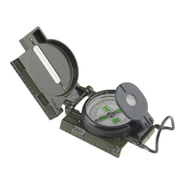 Mini Military Camping Marching Lensatic Compass Magnifier Army Green,Portable Multifunction Folding Pocket Out Door Compass(China (Mainland))