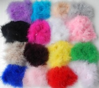 free shipping Marabou Feather Puff baby, kid, girl' hair Flower, fashion Hair accessory,  50pcs/lot