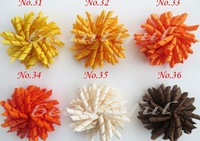 3.5 inches korker bows (SEW ONES) mix color korker hair bow colorful girl hair clips korker clips 200pcs