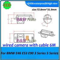 car rearview parking back camera for BMW E46 E53 E90 3 Series 5 Series  HD Car Reverse backup Camera CCD HD