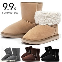 2013 HOT ! 15-19cm Snow Boots Height Women's Fashion Snow Boots for Lady Solid Winter Warm Boot