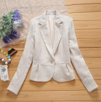 Double end of a single 2013 autumn Women one button slim suit outerwear h22