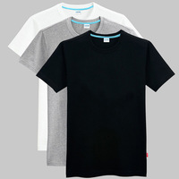 Imagination men's clothing basic shirt plus size plus size extra large loose blank solid color male short-sleeve T-shirt