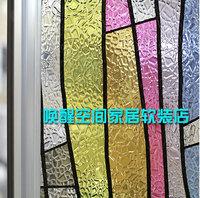 home decor Three-dimensional gel static window stickers glass film window stickers multicolour 3d sunscreen decoration