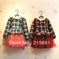 Wholesale !Girls hot autumn stripe  dress ,kids dresses for girls   5pcs /lot  YB03