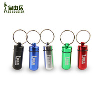 Outdoor outdoor camping travel pill keychain bottles first aid pill bottles waterproof evertive