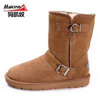 Makino ma snow boots female 2013 new arrival winter thermal platform boots