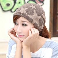Hat general winter knitted hat dual pocket hat outdoor muffler scarf bandanas headband cap
