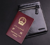 Genuine leather passport holder passport cover commercial passport bag documents bag