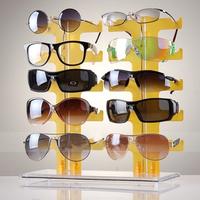 2 row 10 Pairs of Eyeglasses Sunglasses Glasses Display Stand Holder Rack