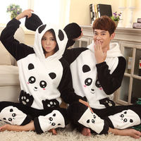 Autumn and winter lovers sleepwear flannel long-sleeve male women's princess coral fleece lounge