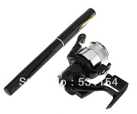 2013 holiday sales,39 inch Telescopic Spinning Travel Sea Fish Fishing Pen Pole Rod & Reel Line Set Black