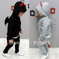 New 2014 spring and autumn Children's wear,Baby demon wing Casual sport suit ,boys clothing,5set/lot Free Shipping