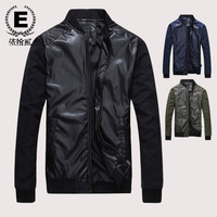 E 2013 men's clothing slim jacket male stand collar short jacket design outerwear male