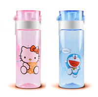 Free shipping, wholesale cartoon water bottles Children's water bottle New arrive hello kitty space cups with lid Travel bottle