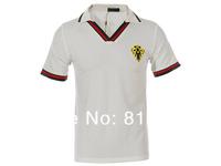 2014 Brand New men t shirt ,stripe V Neck tee shirt Fashion casual short sleeve ,6 Color,Size M-2XL +Free shipping