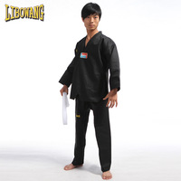 Adult child tae kwon do red blue black stripe performance wear coach service