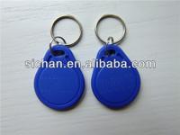 Hot Sale Special Price 125Khz TK4100 RFID key tag/RFID Keyfob Tag NO.3 blue  in stock 100pcs/lot
