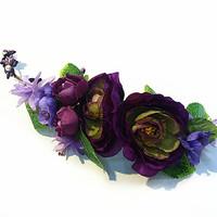 Multicolor flower head garland for wedding Bridal Headwear Wreath artificial flower hair accessory HC306