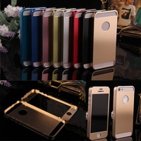 Ultrathin Metal Stainless Steel Hard Brushed Case For iphone 5 5s Titanium Skin Alloy aluminum protective Shell Cover