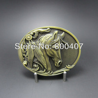 Wholesale Retail Antique Bronze Plated Western Horse Rodeo Vintage Belt Buckle BUCKLE-WT057AB Fast Delivery Free Shipping
