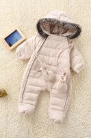 retail baby winter rompers down coat jacket with cap for infant baby winter clothing set outwear 1pc free shipping
