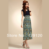 2013 dress fashion spring full dress beach dress bohemia chiffon one-piece dress