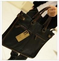 Male shoulder bag casual handbag messenger bag laptop bag PU tidal current male bags cross-body backpack