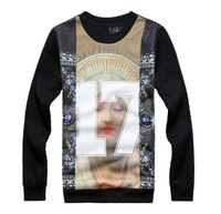 2013 17 digital print lovers long-sleeve pullover sweatshirt
