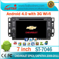Free shipping! lsqstar wholesale 7' car gps for chevrolet aveo with 4.0 Android,dual zone/CDC/PIP/RDS