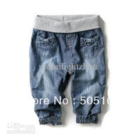 Baby Girls Pants kids children 205126 Protecting the abdomen jeans girls trousers 1221 B CH