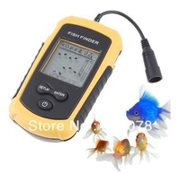 100m Portable Fish Finder sonar fishfinder for fishing Boat sonar sensor depth finder meter with lcd display~freeshipping