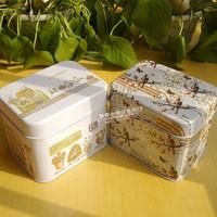 free shipping Rustic series storage tin box desktop storage box for food