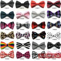 HOTSALE Fashion  solid High quality bow tie men bowtie women Londen style uniform bowtie casual fashion leopard stripe