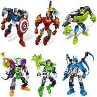2013 New! Decool Super Hero Alliance 6001-6006, 6Pcs/Lot, Children's Educational Assembled Building Blocks Toys No Original Box