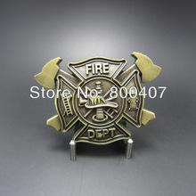 Varejo de bronze antigo chapeado bombeiro Belt Buckle fivela-oc010ab entrega rápida grátis frete(China (Mainland))