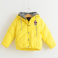 2013 male child down coat thickening thermal children's clothing female child with a hood ultra-light outerwear clothes