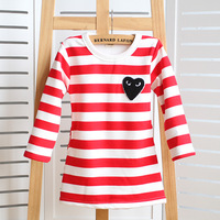 2013 female small bb clothing 100% basic cotton shirt clothes baby o-neck long-sleeve T-shirt