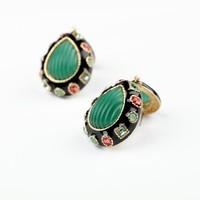 2014 New Arrival Shorouk Luxury Bohemian Stud earrings Resin Water S Vintage Statement  Earring for lady