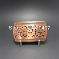 Wholesale Retail Antique Copper Indian Country Music Belt Buckle BUCKLE-WT127AC Fast Delivery Free Shipping