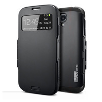 SPIGEN SGP Slim Armor View Leather Case for Samsung Galaxy S4 i9500 Intelligent Automatic Sleep / Wake Phone Cover Bags SGP002